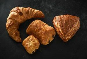 Croissants, Schoko-Croissants, Laugen Eck